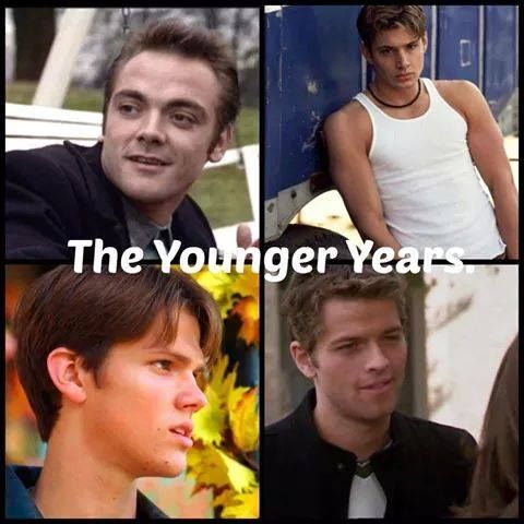 """The younger years << I loved Misha in Charmed!! I was watching it like """"Holy crap, is that fetus Misha Collins?!"""""""