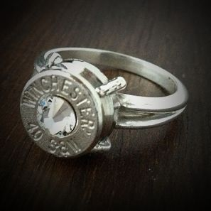 Bullet Jewelry by JECTZ® - Women's .40 Sharp Shooter Sterling Silver Bullet Ring, $39.95 (http://www.jectz.com/womens-40-sharp-shooter-sterling-silver-bullet-ring/)
