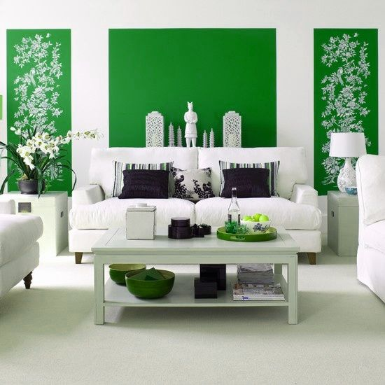 You really need to know the light in the room before you pick the color...green accent walls via The Pink Pagoda