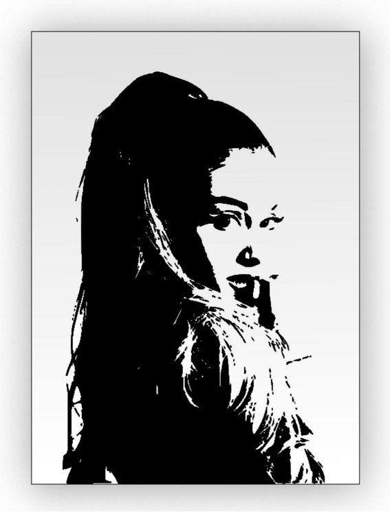 Ariana Grande. Specchio inciso a mano sabbiato di Lartistadelvetro