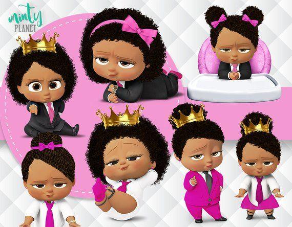 African American Girl Boss Baby Boss Baby Light Skin Full
