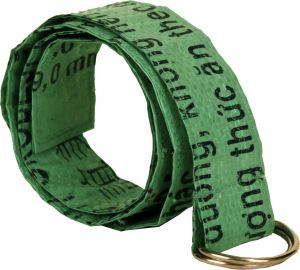 Recycled Feed Bag Belt (Green) by Malia Designs #fairtrade