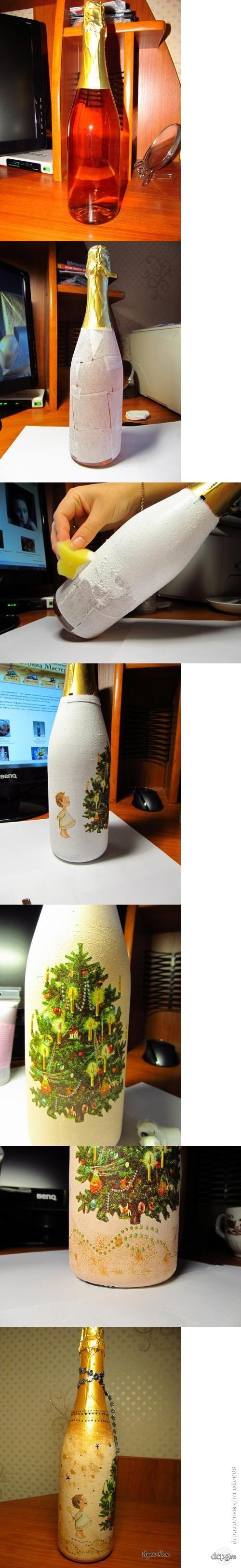 Декупаж - Сайт любителей декупажа - DCPG.RU   Шампанское на Новый год