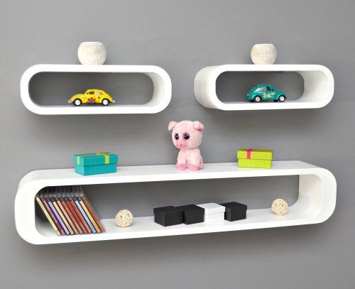 set of 3 lounge cube shelf design retro cd shelf wall rack shelf stand shelf hanging shelf white. Black Bedroom Furniture Sets. Home Design Ideas