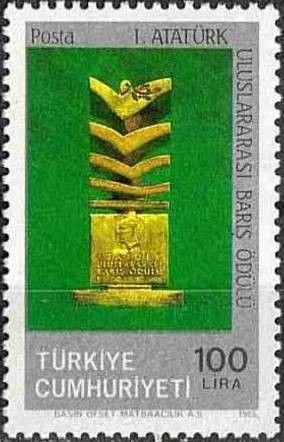 Stamp: Ataturk Peace Prize (Turkey) (1st Ataturk International Peace Prize) Mi:TR 2741,Sn:TR 2348