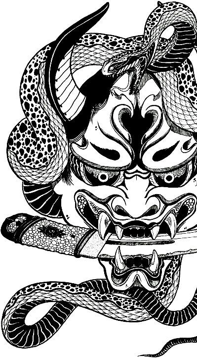 print this oni mask