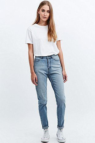 Cheap Monday Donna Jeans in Mid Blue | @andwhatelse