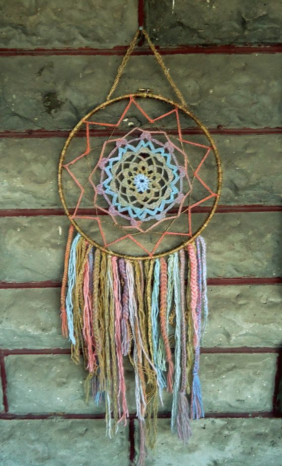 crocheted yarn and hemp dreamcatcher awesome yarns and