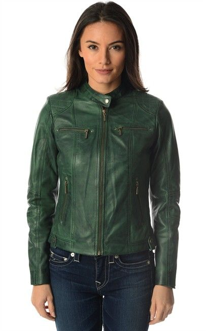 We are green with Envy for this awesome Helium Leather jacket from OZSALE