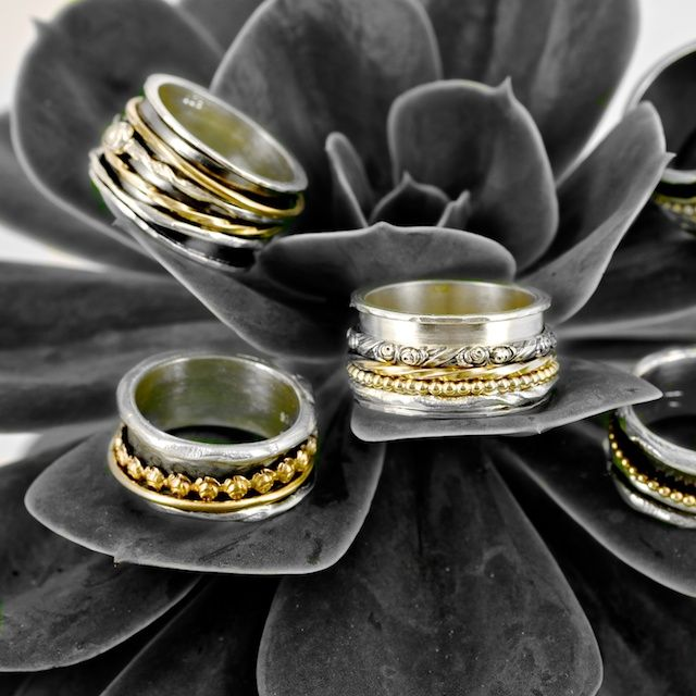 A balancing act. #Rings on plant.