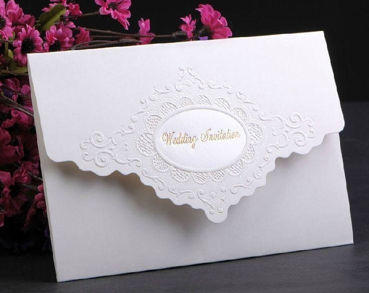 Wedding Invitation Pricing: Simple Wedding Card Invitation Classic Style Tri Fold Card