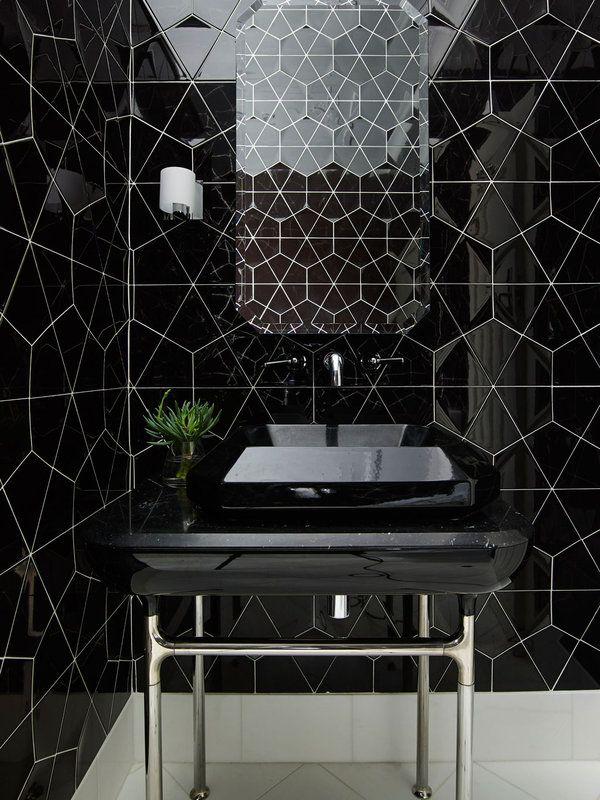 M s de 1000 ideas sobre ba os en blanco y negro en for Banos con azulejos blancos