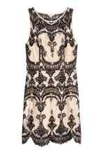 Čipkové šaty - béžová/čierna - ŽENY | H&M SK 2