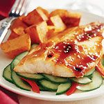 Trout with Crunchy Cucumber Salad