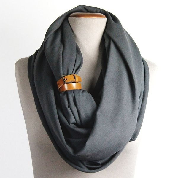 Knitwear Shawl Tube Graphite van CADO accessories op DaWanda.com