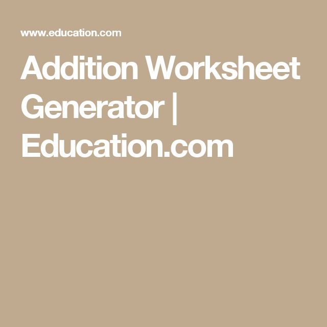 Addition Worksheets » Math Addition Worksheets Generator ...