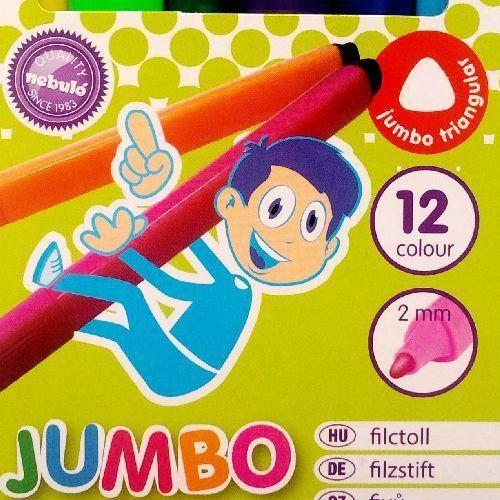 Háromszög alakú vastag filctoll készlet Nebuló Jumbo 12 darabos Ft Ár 719
