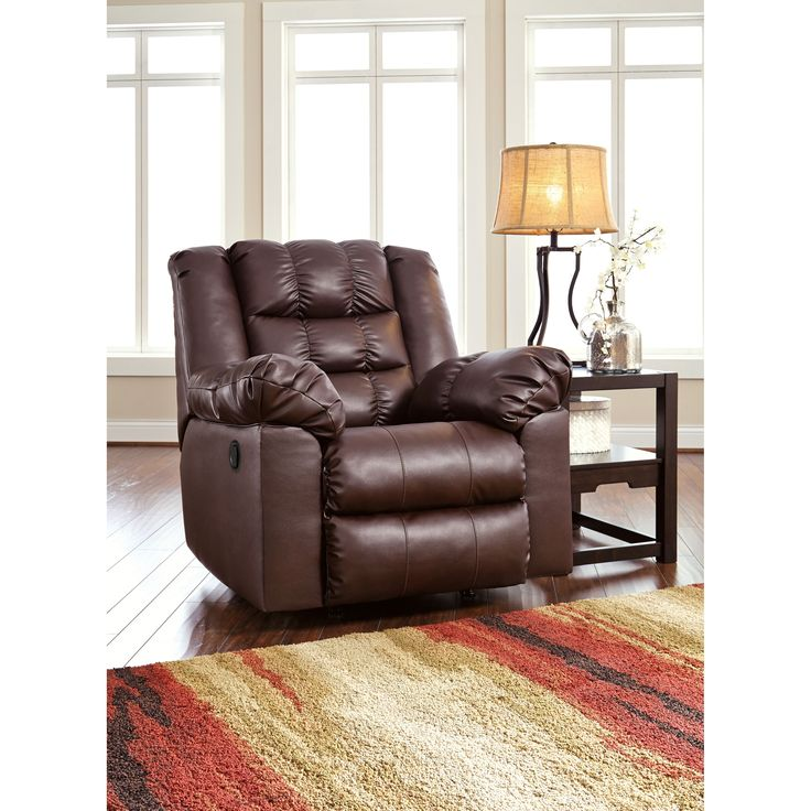Enjoy The Comfort Of This Contemporary Leather Rocker Recliner From  Signature Designs By Ashley. This