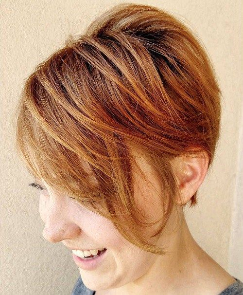Short Layered Hairstyle For Fine Hair