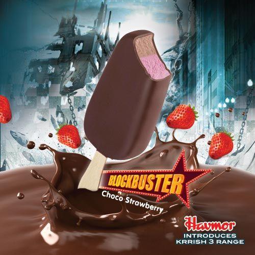Krrish 3 Choco Strawberry Blockbuster #Krrish3 #Icecream #Blockbuster #Choco #Strawberry