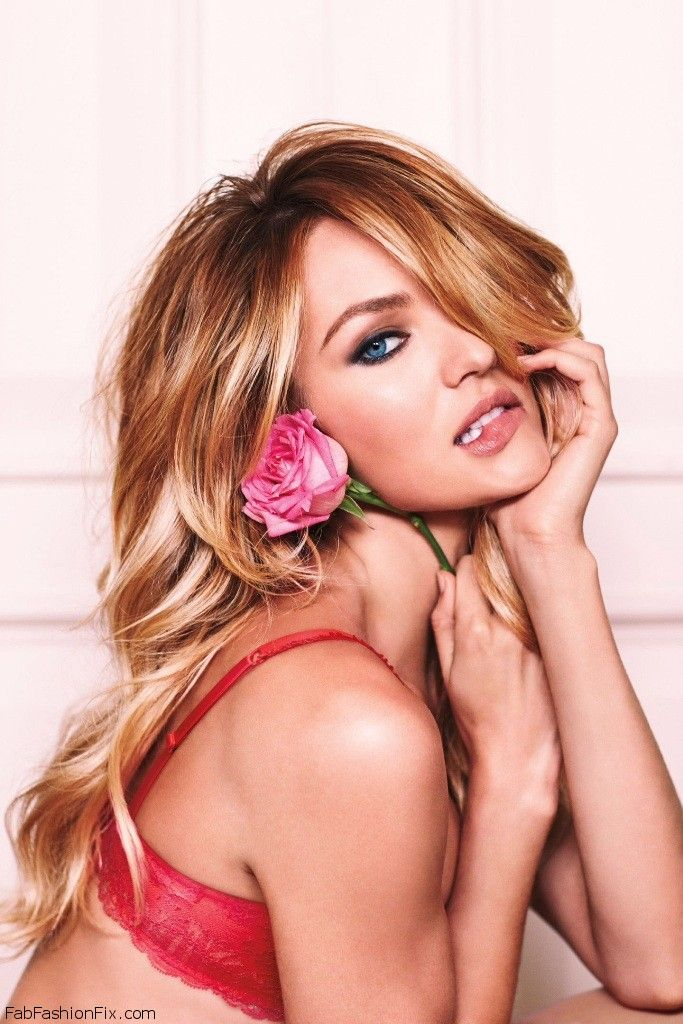 Candice Swanepoel for Victoria's Secret Valentine's Day 2015 collection. #candiceswanepoel