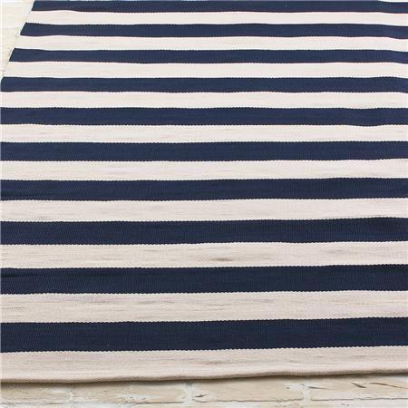 Horizontal Dock Stripe Indoor Outdoor Flat Weave Rug bathroom