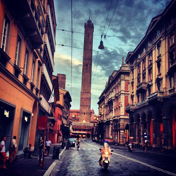 Bologna is the town in Italy where i live. With the oldest university in Europe is famous for the medieval towers, the best italian food and the artistic scene. I love mi hometown :)