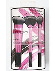 REAL TECHNIQUES Makeup Brush - Collector's Edition Sculpting Set Boxed - NIB. Sculpting brush: features a wide, angled head specially designed to help create defined contours. Fan brush (set exclusive): softly sweeps on powders + whisks away any excess makeup for an even finish. Setting brush: the key to completing any look with a controlled dusting of powder or highlighter.