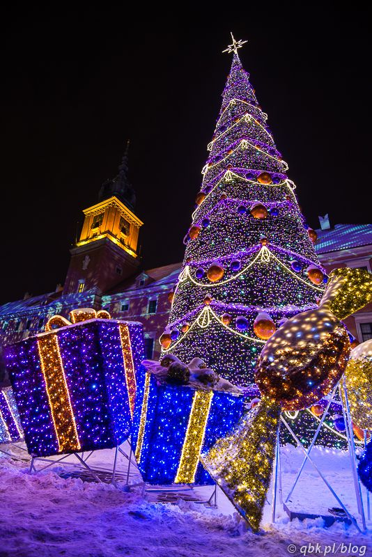 Christmas tree in Warsaw, Poland