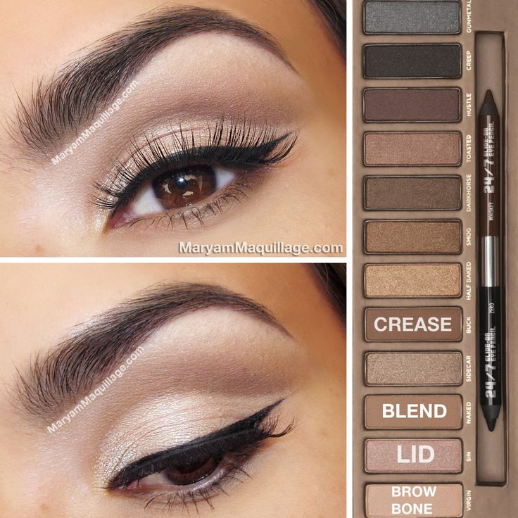 Soft Cut-Crease using Naked Palette