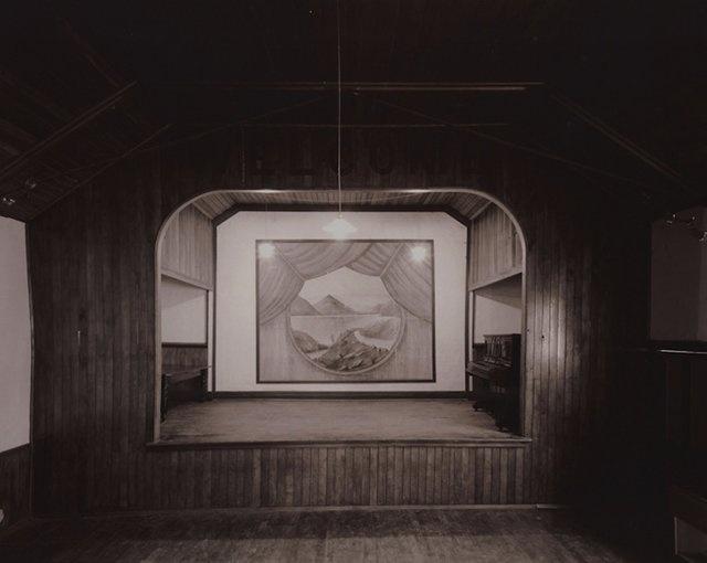 Laurence Aberhart photograhy, st bathans hall, otago