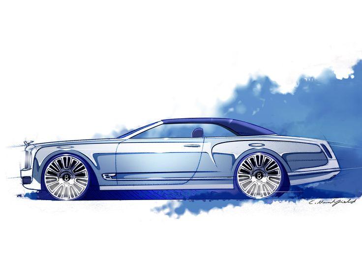 Bentley Mulsanne Convertible Concept - Design Sketch