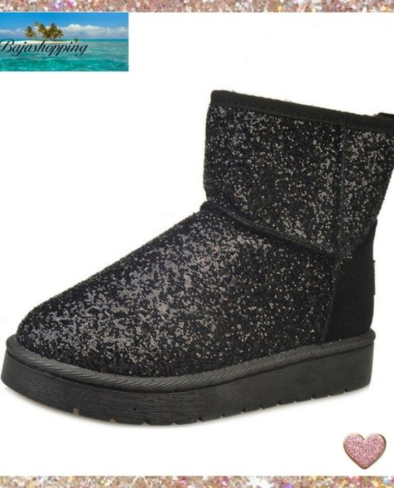6b2706672691 Woman's Trendy Glitter Sequin Slipper Ankle Boots-Pink ♡ | woman's ...