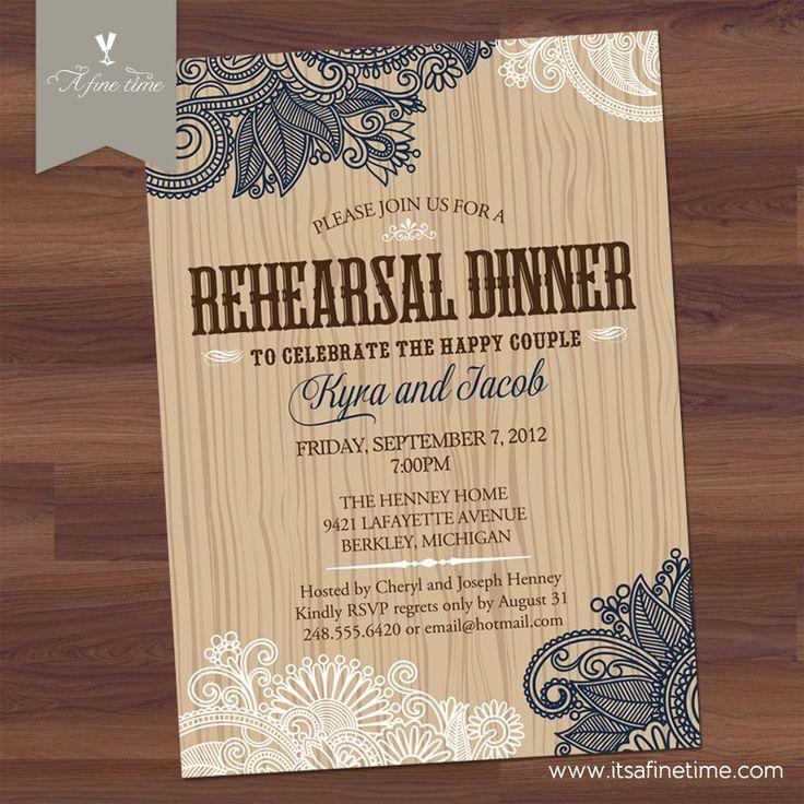 creative wording for rehearsal dinner invitations%0A Rehearsal Dinner Invitation  Bridal Shower  Couples Shower  Elegant  Western  BBQ  Barbecue