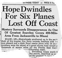 Jane's History Nook : Mystery of Flight 19 and the Bermuda triangle myth...