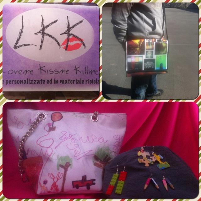 Borse personalizzate con le tue foto e i tuoi disegni. Original LKK playful bags, fatte a Torino con amore.