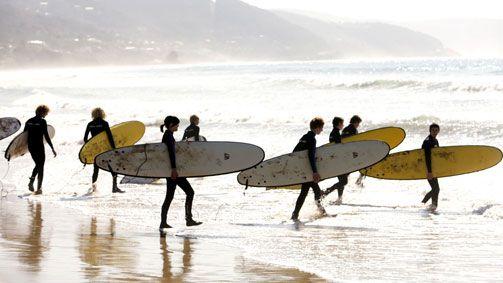 Surfing, Lorne, Great Ocean Road, Victoria, Australia