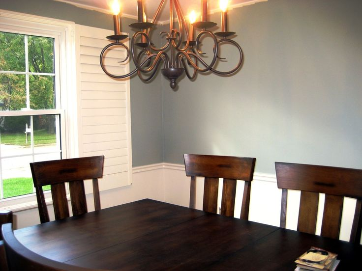 painting ideas for dining room with chair rail duggspace ...