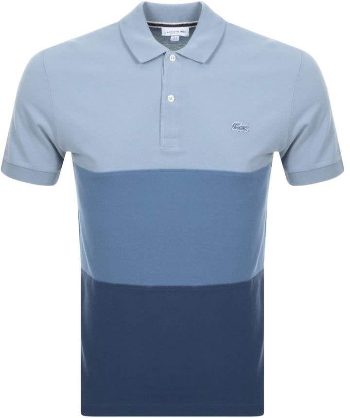 f234d24ab Lacoste Colour Block Polo T Shirt Blue