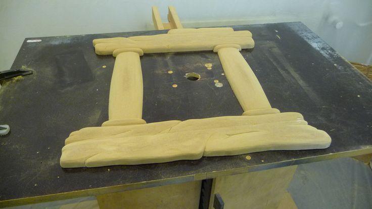 Just finished sanding the frame...