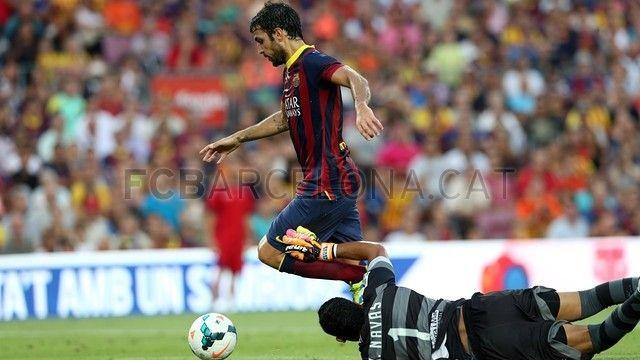 FC Barcelona7-0 Levante | FC Barcelona, Fábregas driblándo. [18.08.13]