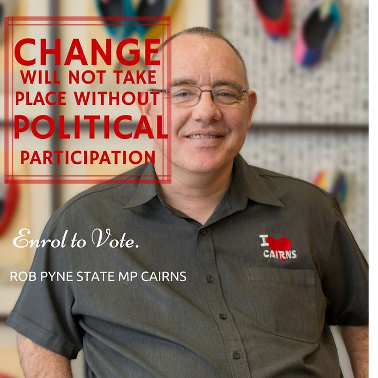 CHANGE will not happen without political participation. Be the change this world needs and enrol to vote at http://www.aec.gov.au/enrol/