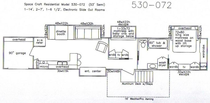 Floor Plan With Slide Outs For 53 Semi Trailer How