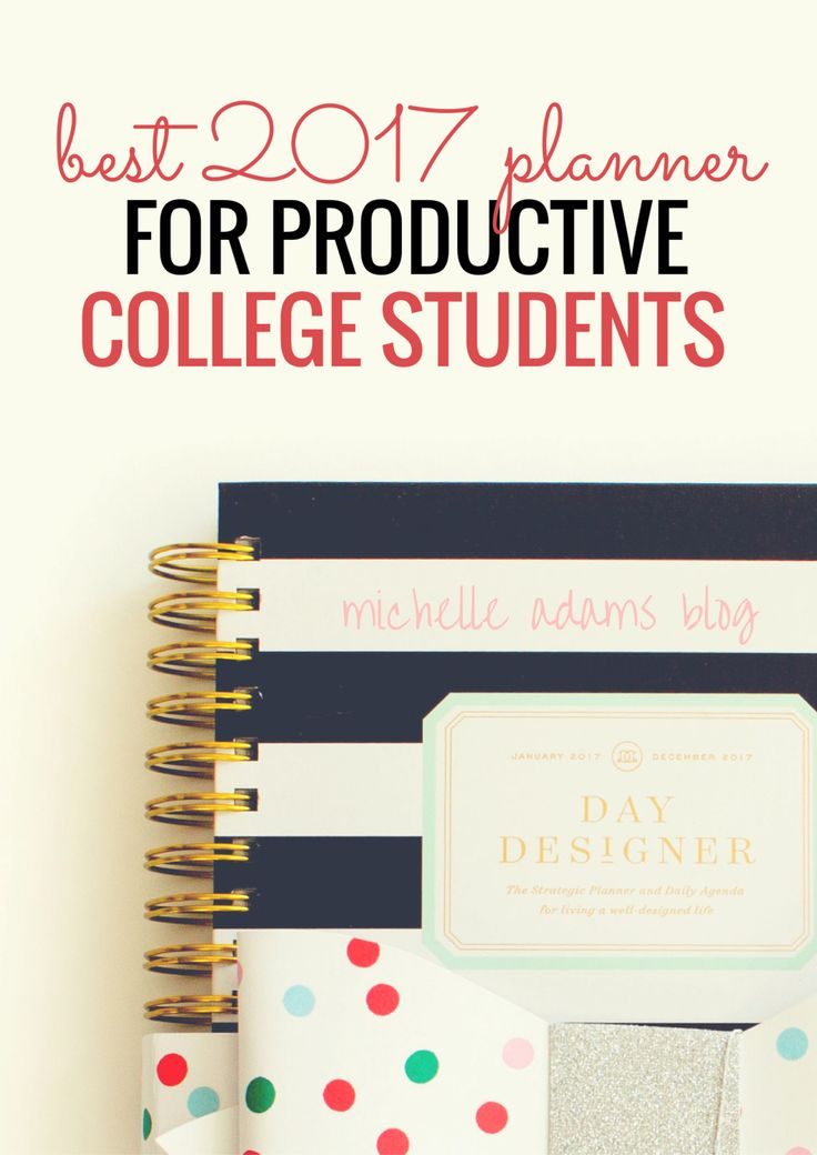 The Best 2017 Planner for Productive College Students and Entrepreneurs productivity agenda planning book | Michelle Adams Blog
