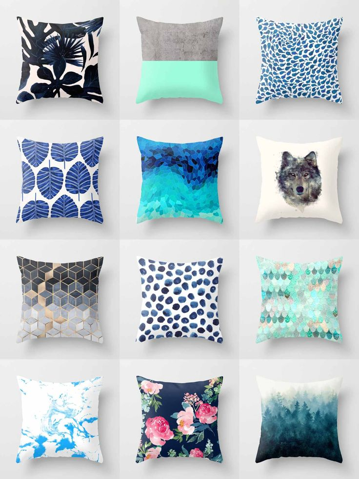 Society6 Blue Throw Pillows - Society6 is home to hundreds of thousands of artists from around the globe, uploading and selling their original works as 30+ premium consumer goods from Art Prints to Throw Blankets. They create, we produce and fulfill, and every purchase pays an artist.