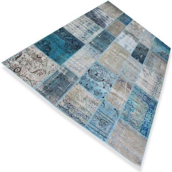 Blauw Vloerkleed - 3,03 x 2,03
