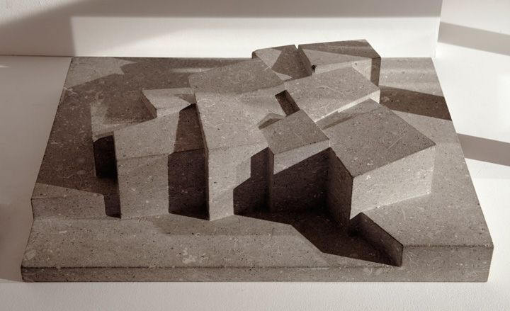 David Chipperfield - Hepworth Gallery Concrete model