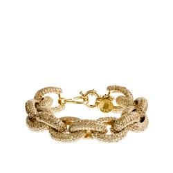 Classic pavé link bracelet