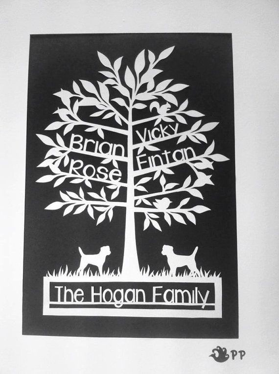 DIY Family Tree Paper Cutting Template. Add by ...