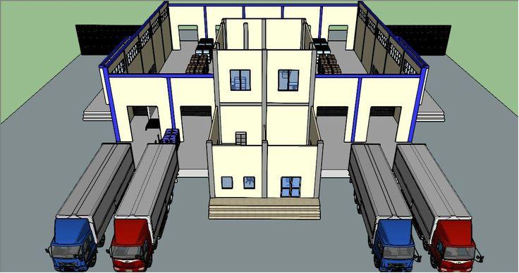 Building 3D drawing using SketchUp